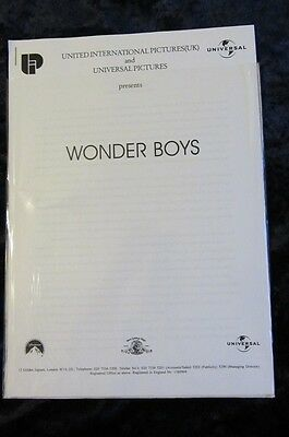 WONDER BOYS  press kit MICHAEL DOUGLAS, KATIE HOLMES, TOBEY MAGUIRE