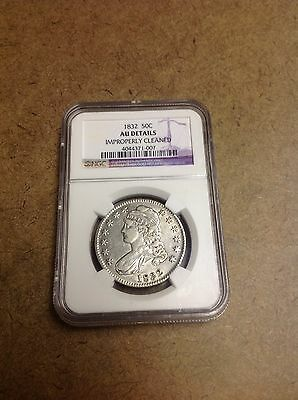 1832 Capped Bust Silver Half Dollar 50C NGC AU Details