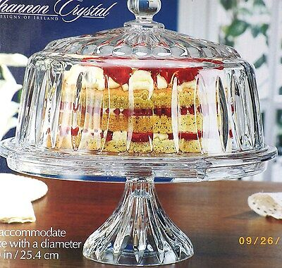 Shannon Crystal Glass Dome CAKE STAND, Salad Bowl, 1 Gal Punch Bowl NEW