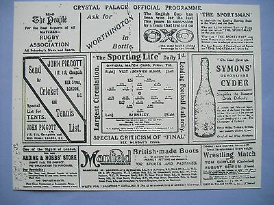 1912 FA Cup final programme Barnsley v West Bromwich Albion in mint condition.