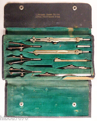 Vintage Brass Compass Drafting Set, Co. Hoco, Germany
