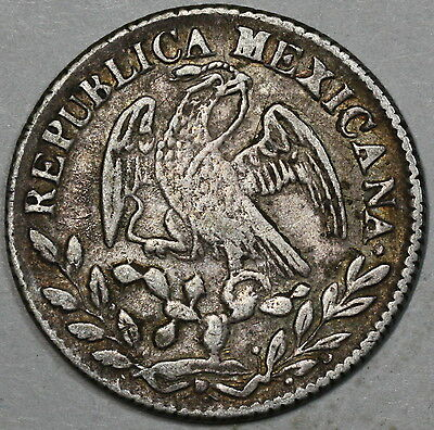 1849-Go MEXICO Silver Cap & Rays 2 Reales Coin LOT B (16062916R)