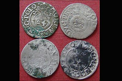 Rare Lot Of 4 Silver Late Medieval Hammered Coins - Superb Coins