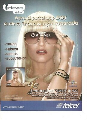 Gwen Stefani, Full Page Ad, Telcel, Foreign Magazine