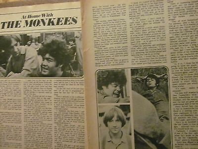 The Monkees, Two Page Vintage Clipping, #9