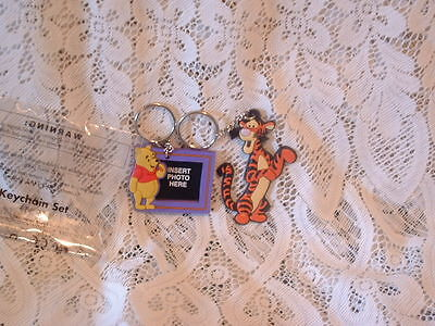 Set Of Two Key Rings Winnie The Pooh (Holds Photo) And Tigger New In Packet