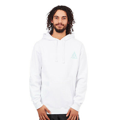 HUF - Triple Triangle UV Pullover Hoodie White Kapuzenpullover Hooded Sweater