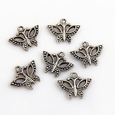 20//50//150Pcs Znic Alloy Mini Butterfly Charms Pendants For DIY Making 13x13mm