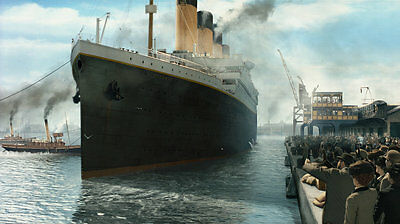 Best gift Titanic Ship Oil painting Art wall Seascape Picture Printed canvas f30