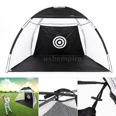 Golf Training Practice Driving Hit Net Aid Cage Mat Driver w/Free Carry Bag X3L2