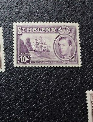 ST. HELENA 1938 10s SG 140 Sc 127 MLH top value