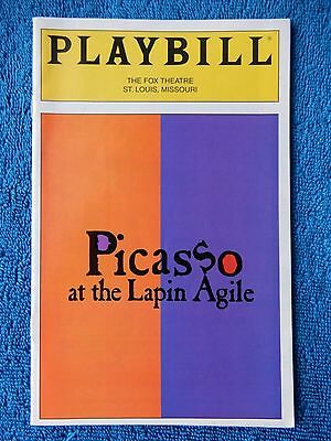Picasso At The Lapin Agile - Fox Theatre Playbill w/Ticket - January 26th, 1997
