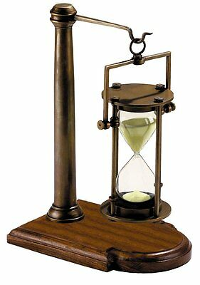 G527: Great Noble Bell clock, 30 Minutes Hourglass in Cardanic Tripod