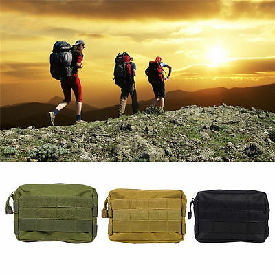 Universal Army Molle Waist Sports Bag Case Pouch Purse Belt Loop Camping Fishing