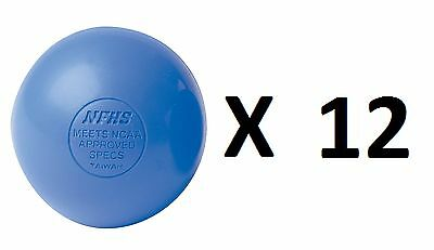 Champion Lacrosse Ball Official NFHS NCAA Massage Therapy-BLUE (12-Pack)