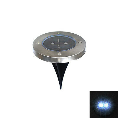 Solar LED Buried In ground Light Garden Waterproof Outdoor Pathway Lawn Lamp