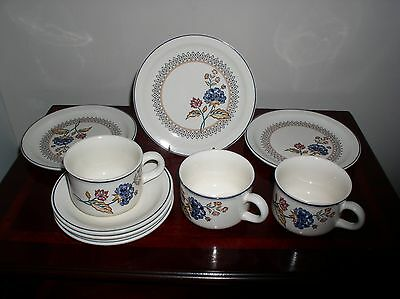 "Boots ""camargue"" Top Up Set 2 Teacups, 3 Saucers And 3 Teaplates"