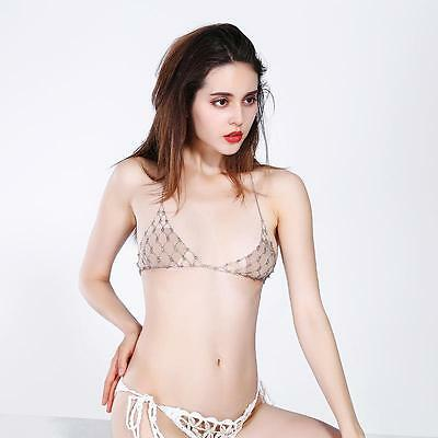 Fashion Silver Gold Mesh Crystal Harness Bra Top Body Chain Necklace Jewelry