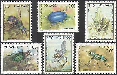 Monaco 1987 Beetles/National Park/Insects/nature/Conservation 6v set (n38193a)
