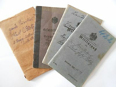 prussian  militar pass books  & soldbuch grouping inf rgt 204  wounded Reims