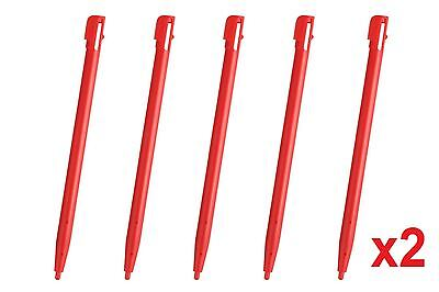 Hellfire Trading 10x Red Touch Screen Stylus Plastic Pen for Nintendo 2DS