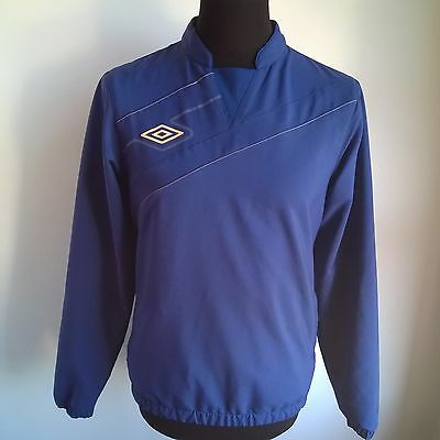Blue Drill Top Umbro Football Shirt Jersey Size Adult S