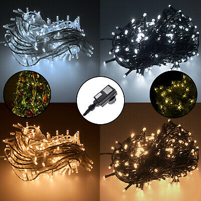 100 300 led christbaum weihnachtsbaum lichterkette beleuchtung f r innen au en eur 9 49. Black Bedroom Furniture Sets. Home Design Ideas