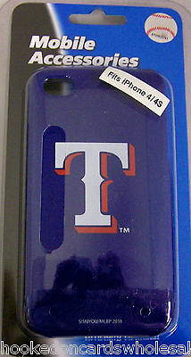 Texas Rangers Apple iPhone 4 4S Faceplate Hard Protector Case Cover Snap On