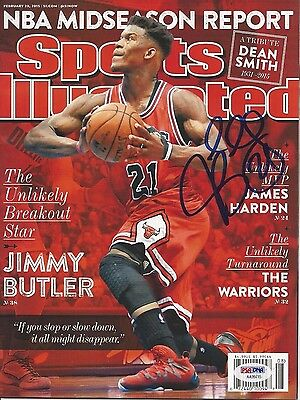 JIMMY BUTLER Signed SPORTS ILLUSTRATED with PSA COA (NO Label)
