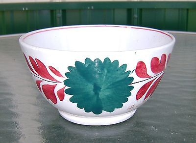Lovely Antique Staffordshire England Hand Painted Floral Bowl