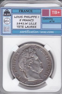 5 Francs Louis Philippe I 1841.w Lille