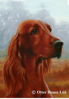 Garden Indoor/Outdoor Portrait Flag - Irish Setter (JS) 500631