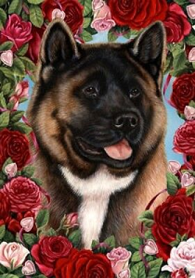 Large Indoor/Outdoor Roses Flag - Akita 19098