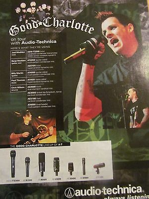 Good Charlotte, Audio Technica Microphones, Full Page Promotional Print Ad