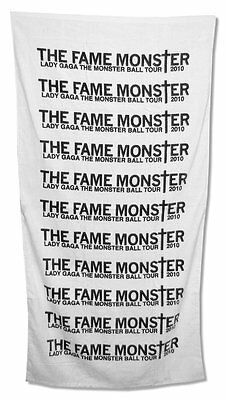Lady Gaga - Fame Monster Black And White Beach Towel - New Official Tour 2010