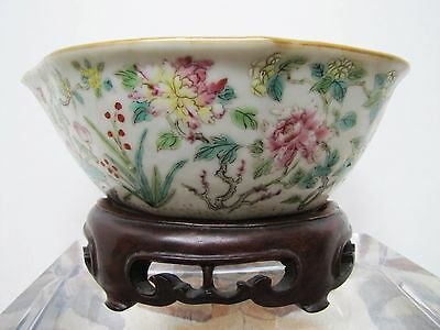 Antique Late 19th / Early 20th Century Chinese Porcelain Porcelain Flower Bowl.