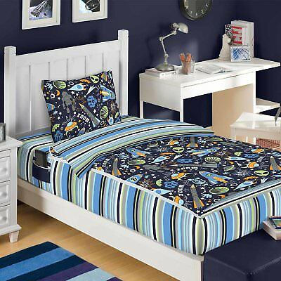 Zipit Bedding Outer Space Reversible Bed-In-A-Bag Set