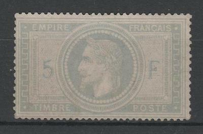 """FRANCE STAMP TIMBRE 33 """" NAPOLEON III 5F VIOLET GRIS 1867 """" NEUF (x) TB  P384"""
