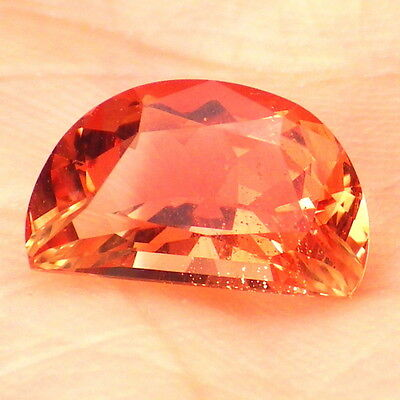 ORANGE PINK SCHILLER OREGON SUNSTONE 2.02Ct FLAWLESS-FOR BEAUTIFUL JEWELRY!