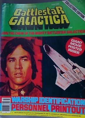 Vintage Battlestar Galactica Official Poster Magazine #3 Collectors Edition 1978