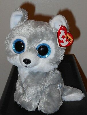 """Ty Beanie Boos ~ WARRIOR the 6"""" Grey Wolf ~ Great Wolf Lodge Exclusive ~2016 NEW"""