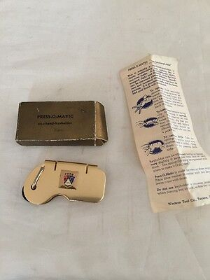 Vintage Ford Motors Advertising Press-O-Matic Key Holder Chain In Box