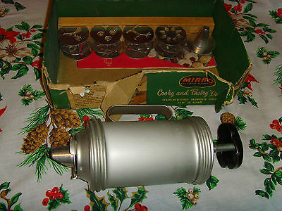 Mirro Cooky and Pastry Press REPLACEMENT Partial vintage cookie press kit set