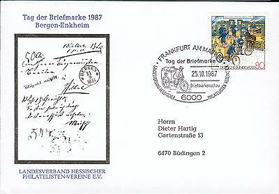 Germany BRD Michel Nr. 1337 on FDC bicycle Fahrrad hv52