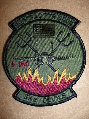 "USAF Patch - 351st Tactical Fighter Squadron ""Sky Devils"" Air Force Patch"