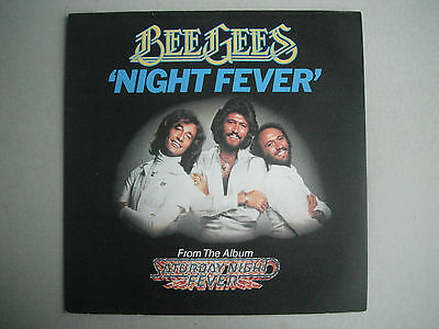 BEE GEES : **** PICTURE SLEEVE ONLY **** For NIGHT FEVER . RSO . 1978 SOUNDTRACK
