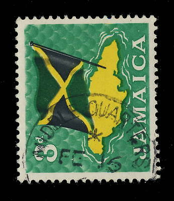 "Jamaica - 196? - ""middle Quarters / Jamaica"" Circle Date Stamp On Sg 221"