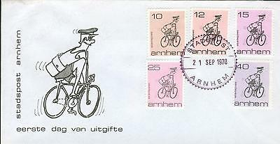 Netherlands local issue FDC bicycle Fahrrad 1970 hh68