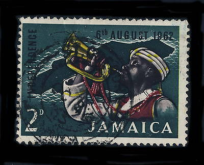 "JAMAICA - 1963 "" St GREGORY / JAMAICA "" Type B3 Birminghan DATE STAMP ON SG 193"