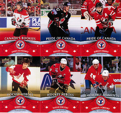 2013 Ud National Hockey Card Day Complete Set (17) Brodeur Gretzky Crosby Nhcd